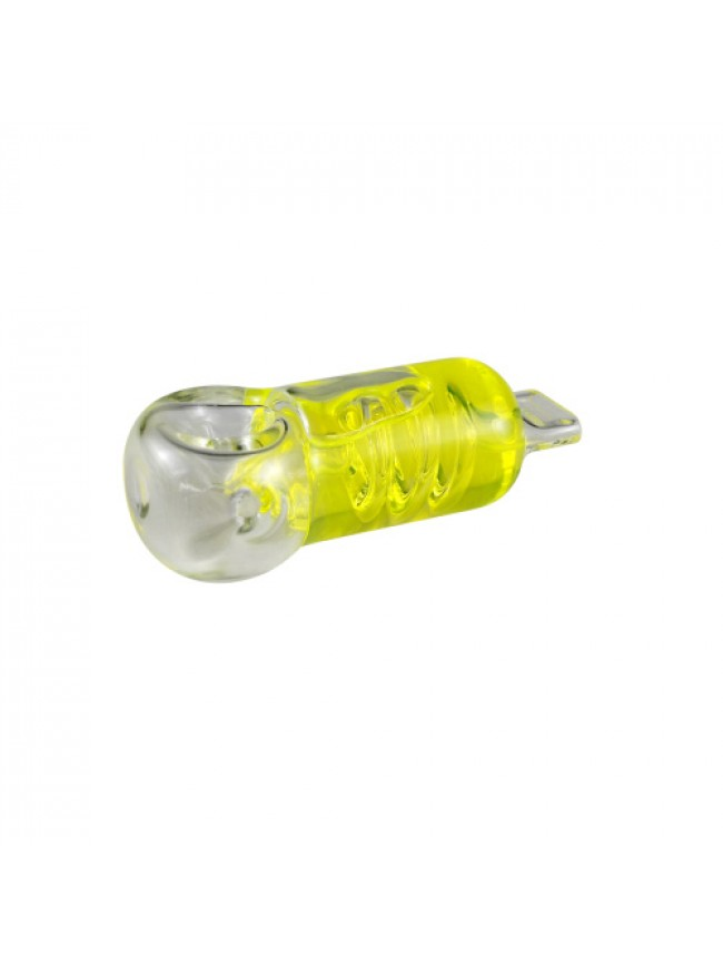 Pipe Glass 4 Liquid Filed With Coil & Flat Mouthpiece""