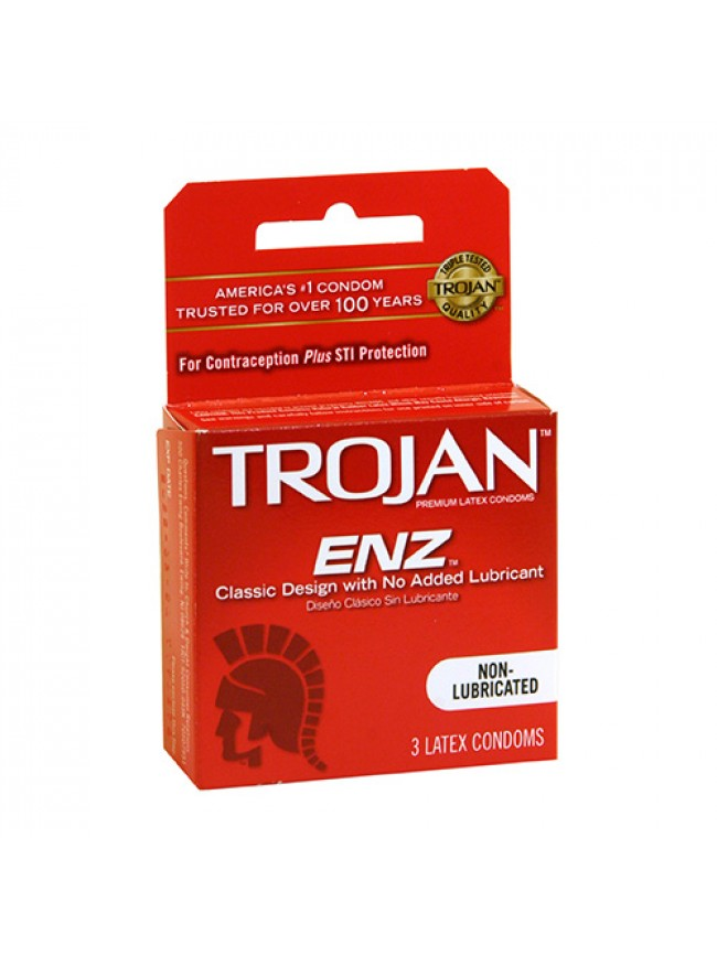 Trojan Non Lubricated 3 Pack