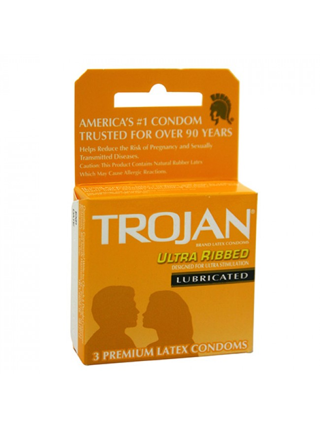 Trojan Ultra Ribbed 3 Pack